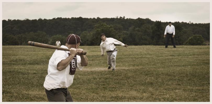 Vintage baseball batter
